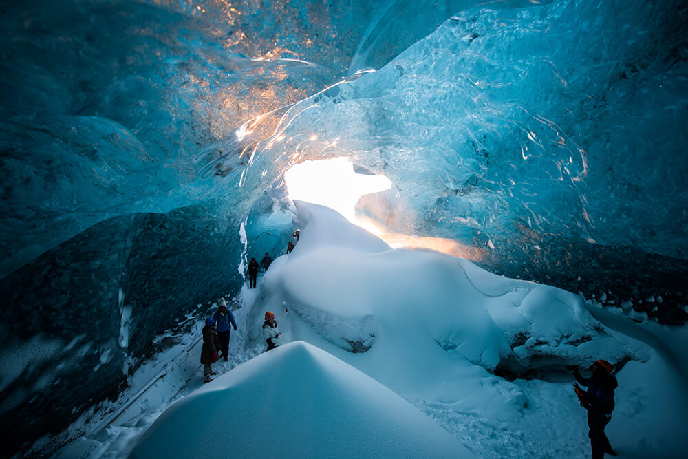 Ice cave entrance