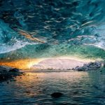 Sunrise inside Sapphire Ice cave