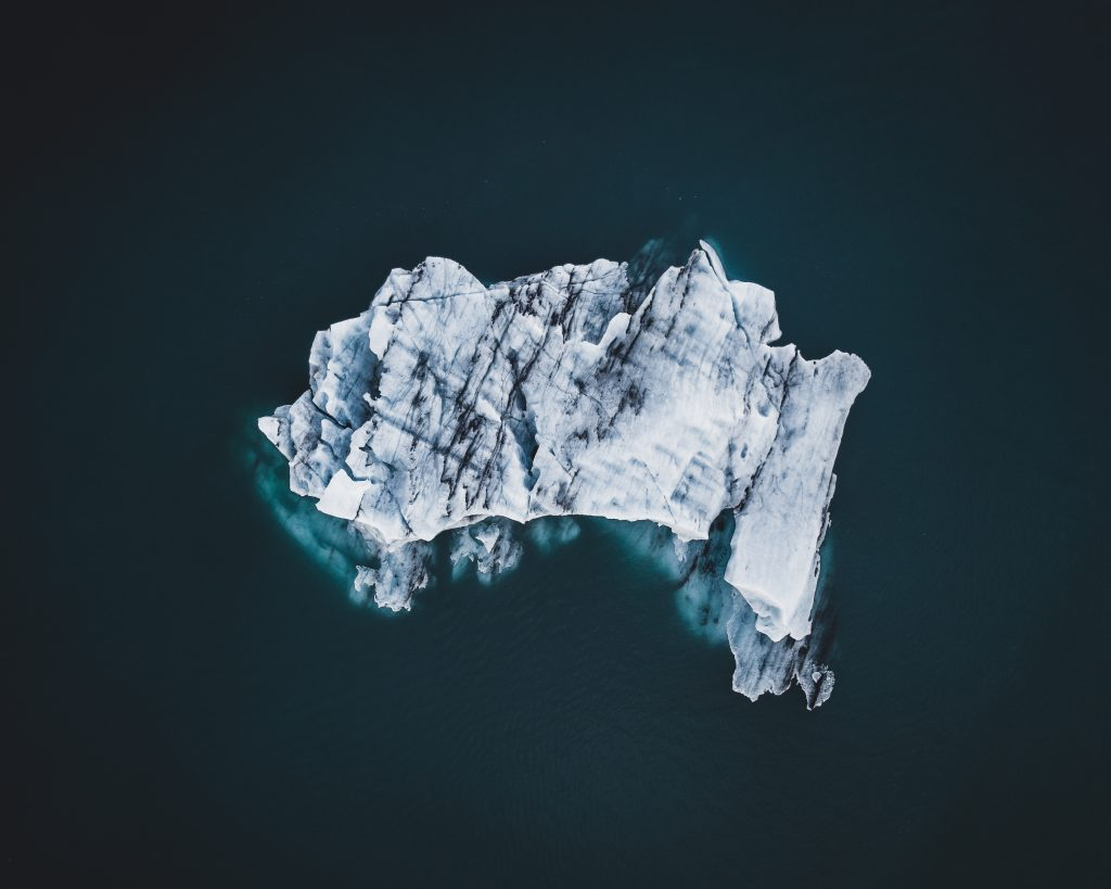 Iceberg at the glacier lagoon