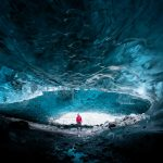 Glacier guide inside Crystal Ice cave